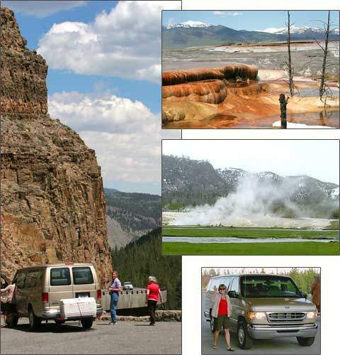 Mini bus tour of upper loop, Yellowstone Park