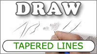 Why and how to draw tapered lines with graphite pencil