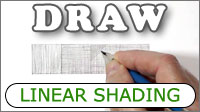 Linear shading with graphite pencil - hatching, cross-hatching, scribble, and stippling