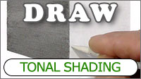Contour shading with graphite pencil - shading curves with flat and linear shading