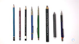 An collection of diferent types of pencils