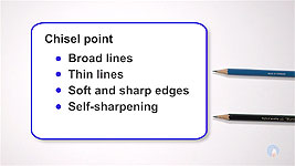 An explanation of the chisel point on a pencil