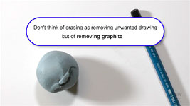 An introduction to partial removal of graphite to fine tune values in pencil drawing