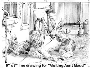 Airedale Terrier drawing