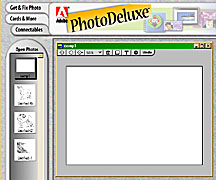 Adobe PhotoDeluxe used for composing artwork